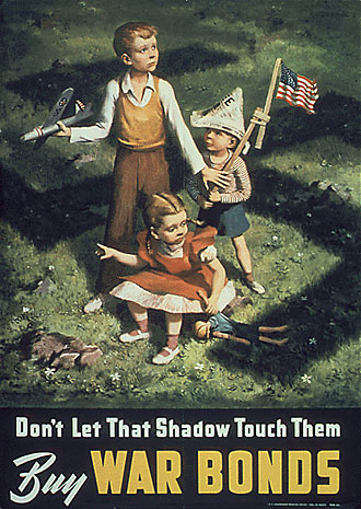 file:/activities/oralhistory/cappics/cohen1917_shadow, alt: poster showing three children posed in shadow of shwastika