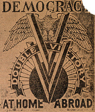 file:/activities/oralhistory/cappics/elliot1939vv_doubleVlogo, alt: two nested letter Vs between the words democracy at home and abroad
