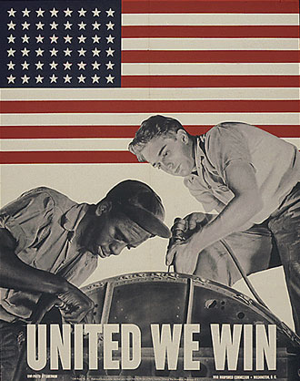 file:/activities/oralhistory/cappics/pryor1934_united, alt: poster that reads: United we win, and shows a black man and white man working together
